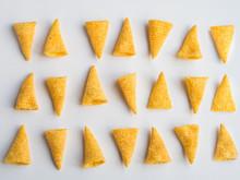 Corn Cones Pattern On White Ba...