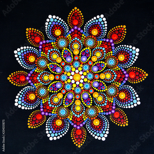 Beautiful mandala hand painted Fototapet