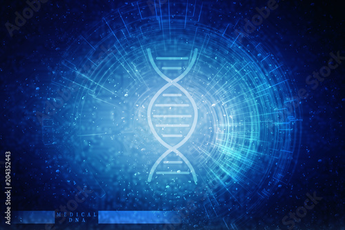 2d render of dna structure, abstract background Poster