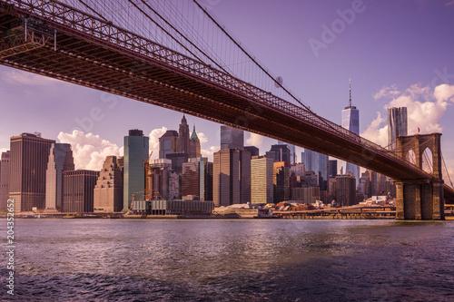 In de dag New York City New York au coucher du soleil