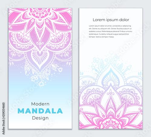 Photo  Abstract mandala banner design
