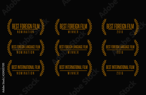 Movie award best foreign language film international nomination winner black gol Canvas Print