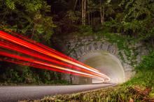 Light Trails - Blue Ridge Park...
