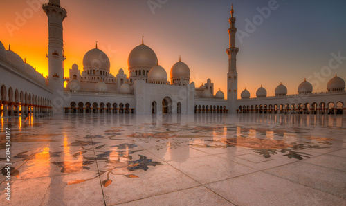 Fotografie, Tablou Sheikh Zayed bin Sultan Al Nahyan Grand Mosque