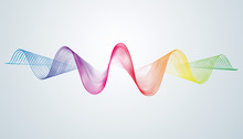 Abstract Smooth Curved Lines D...