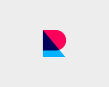 Letter R Logotype. Colorful Ov...