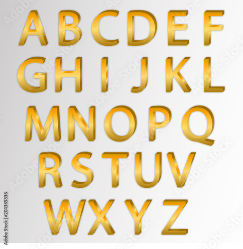 1dca7651d9dc Alphabet Golden Letter Collection Modern Business Style - Buy this ...