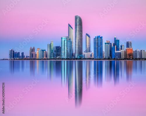 Fotobehang Midden Oosten Skyline Abu Dhabi