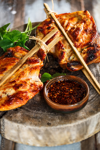 Poulet Grille Thai Kor Lae Chicken Cuisine Thailandaise Buy This