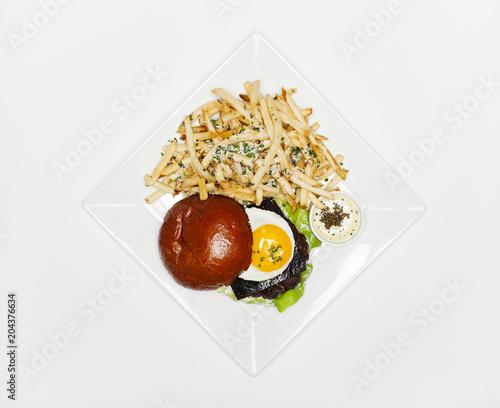 Spoed Foto op Canvas Eten Burger & Fries
