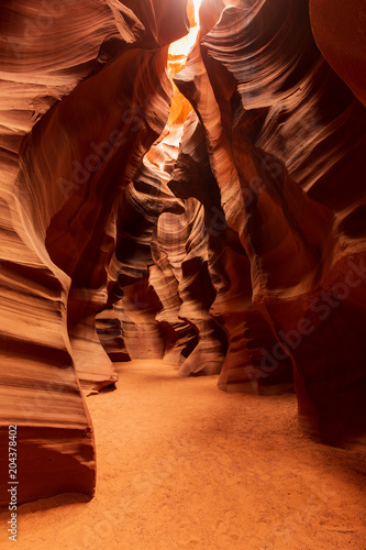 Fotografie, Obraz  Abstract Pattern Formation of Light and Shadow in the Upper Antelope Canyon near