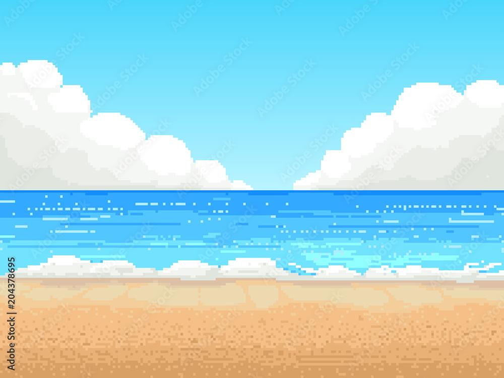 Fototapeta retro pixel vector design