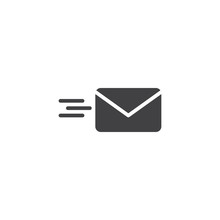 Sending Mail Vector Icon. Fill...