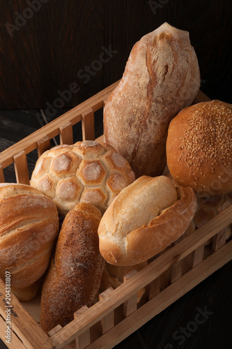 Deurstickers Brood typical Italian assorted bread