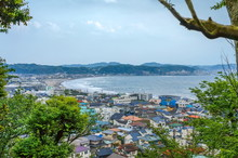 View On Kamakura Coastal In Kanagawa Prefecture, Japan