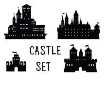 Castle Set. Ancient Castle Bui...