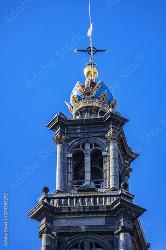 Photo  View of Western Church (Westerkerk, 1620 - 1631) - a Dutch Protestant church in Amsterdam