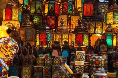 Cadres-photo bureau Graffiti collage lighting with colors on muslim style's lantern