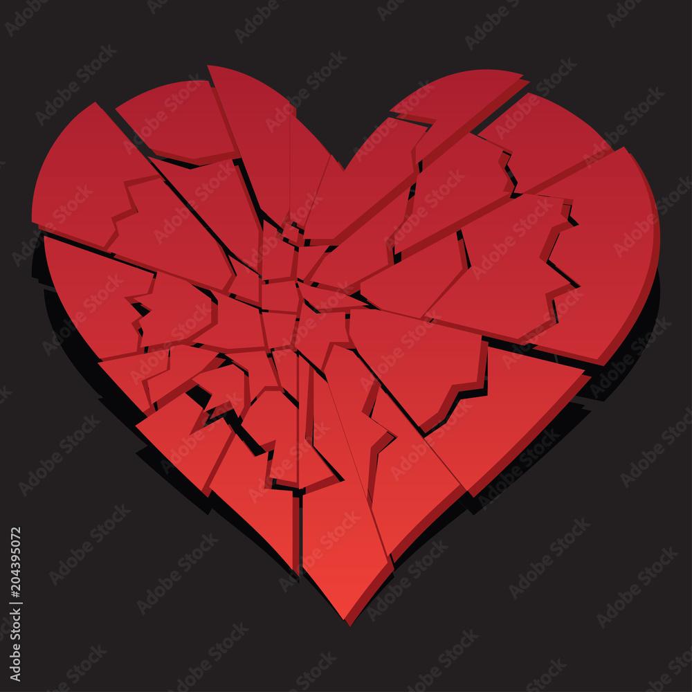 Photo Art Print Heart Broken Heartbreak Flat Icon For Broken