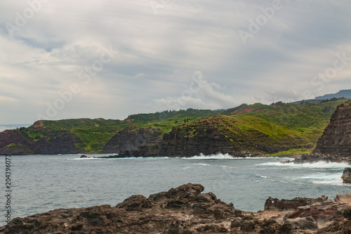 Foto op Canvas Bleke violet Scenic Maui Coast Landscape
