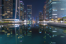 Skyscrapers, Night View, Emirates, Dubai, Jumeirah Lakes Towers, Dec.2017