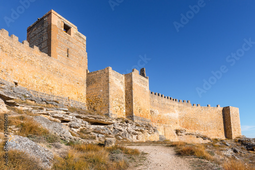 Poster Historisch geb. Gormaz Castle un Soria Province, Castile and Leon, Spain