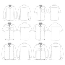 Vector Template For Button-down Shirts