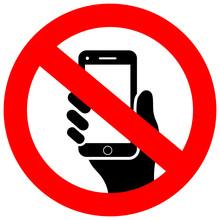 No Cell Phone Vector Icon