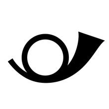 Postal Round Horn Vector Icon