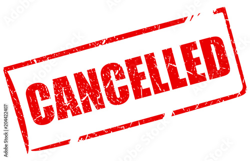 Cancelled rectangle vector stamp Canvas Print