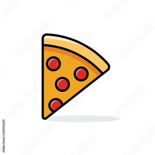 slice of pepperoni pizza Fototapeta