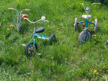 Old Vintage Retro Child Bicycles