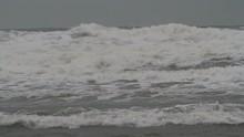 White Waves Rolling Ans Crashing