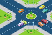 Car Crash, Vector Isometric 3D...