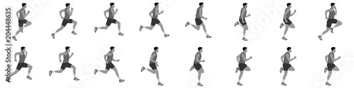 man run cycle and jogging animation spite sheet Tapéta, Fotótapéta
