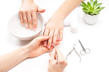 Hands Care In The Spa. Beautif...