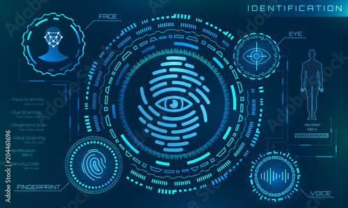 Photo  Biometric Identification Personality, Scanning Modern Access Control, Technology