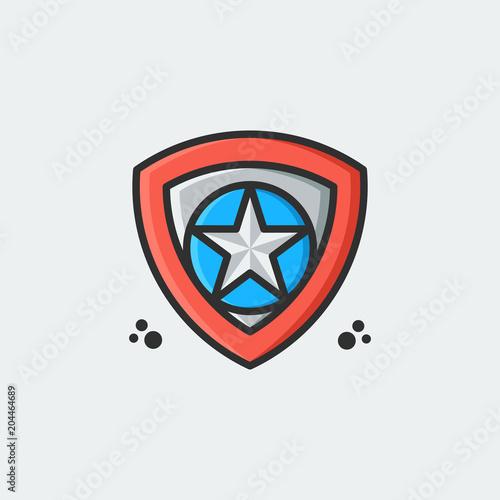 Shield Star Logo Template Vector Illustration