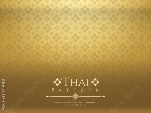 Fototapeta modern line Thai pattern traditional concept The Arts of Thailand obraz