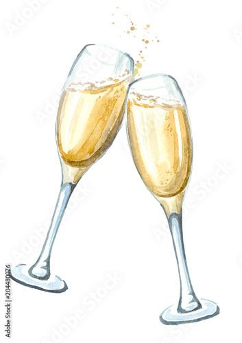 dwie-szklanki-szampana-w-opiekaniu