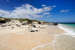 Sand La Herradura beach and turquoise water on the wild coast of Cuba