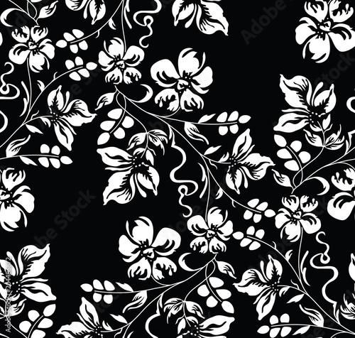 Tapety Klasyczne  bezszwowa-tapeta-z-motywem-kwiatowym-adamaszku