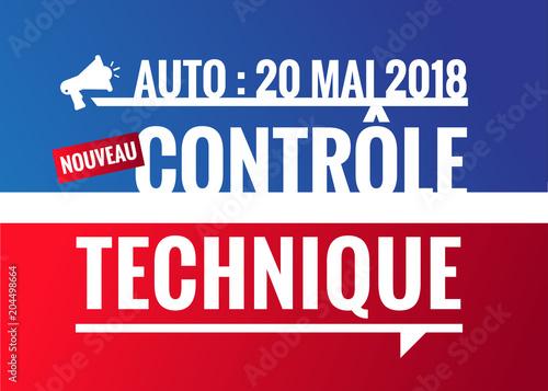 nouveau contrôle technique - 20 mai 2018 Canvas Print