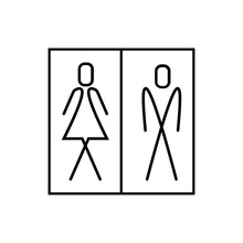 WC Sign, Man And Woman Icon