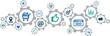 online marketing / social media marketing / SEO vector illustration