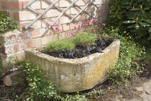 Stone Trough Container With Pi...