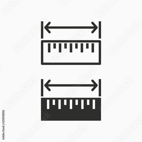 Fotomural  Vector ruler icon