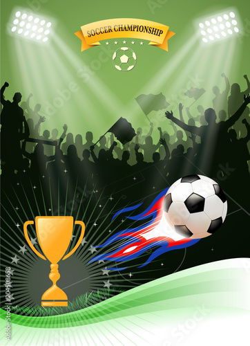 Fotografiet  soccer championship fire