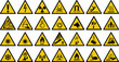 warning sign vector set of triangle yellow warning signs.