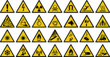 Warning Sign Vector Set Of Tri...